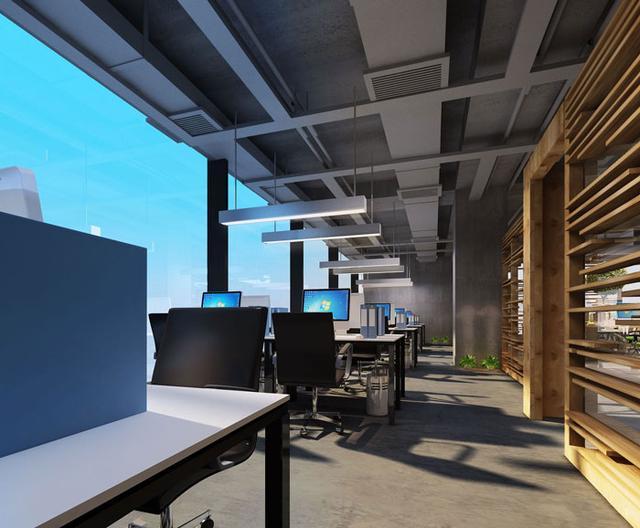 大型创意办公室装修效果图